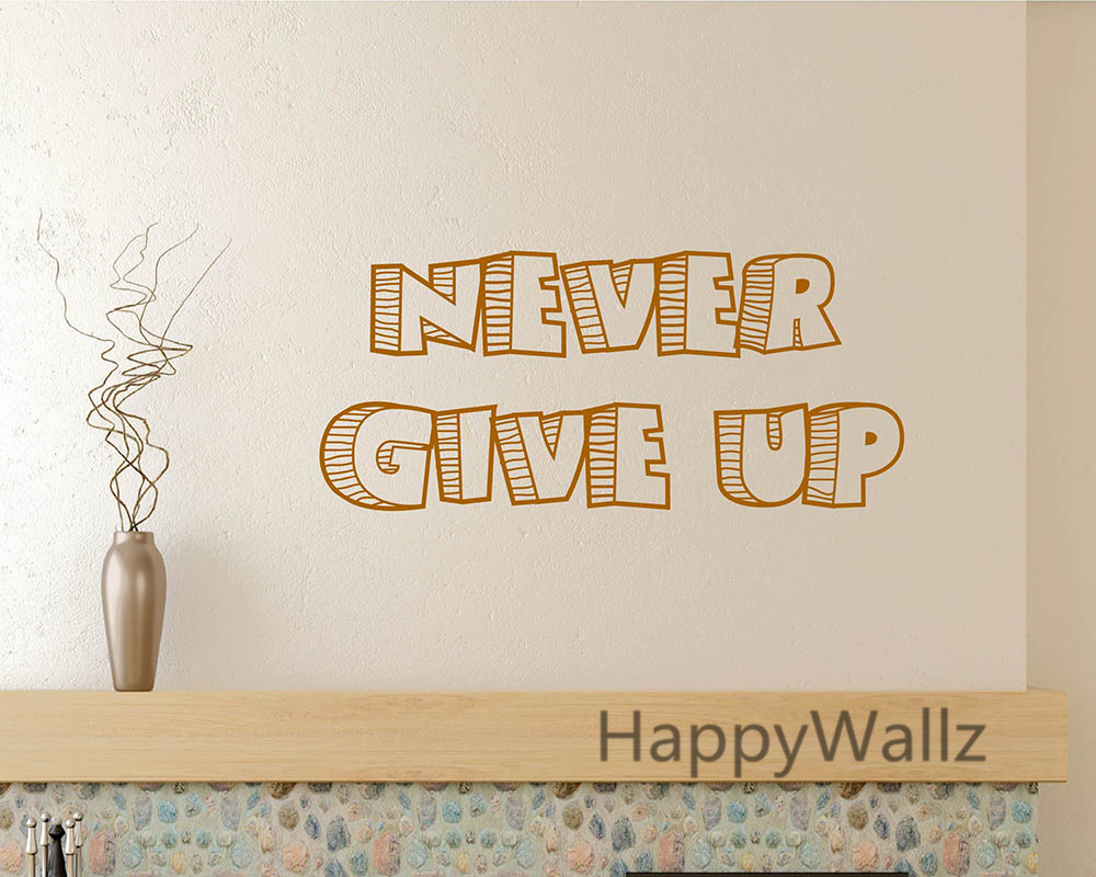 decal stickers for motorcycles picture more detailed picture motivational quote wall sticker never give up diy baby nursery inspirational lettering quotes custom colors vinyl