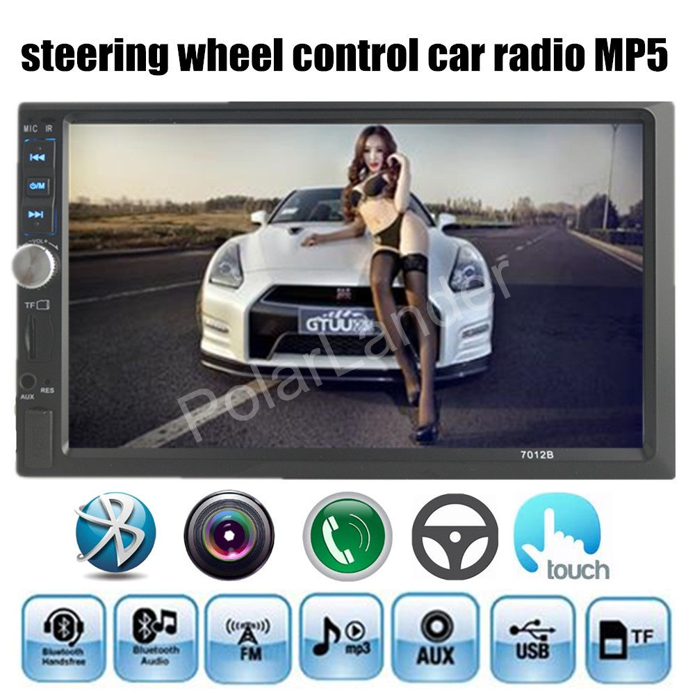 NEW 4 language menu 7 inch Bluetooth Car font b Audio b font Stereo MP5 MP4