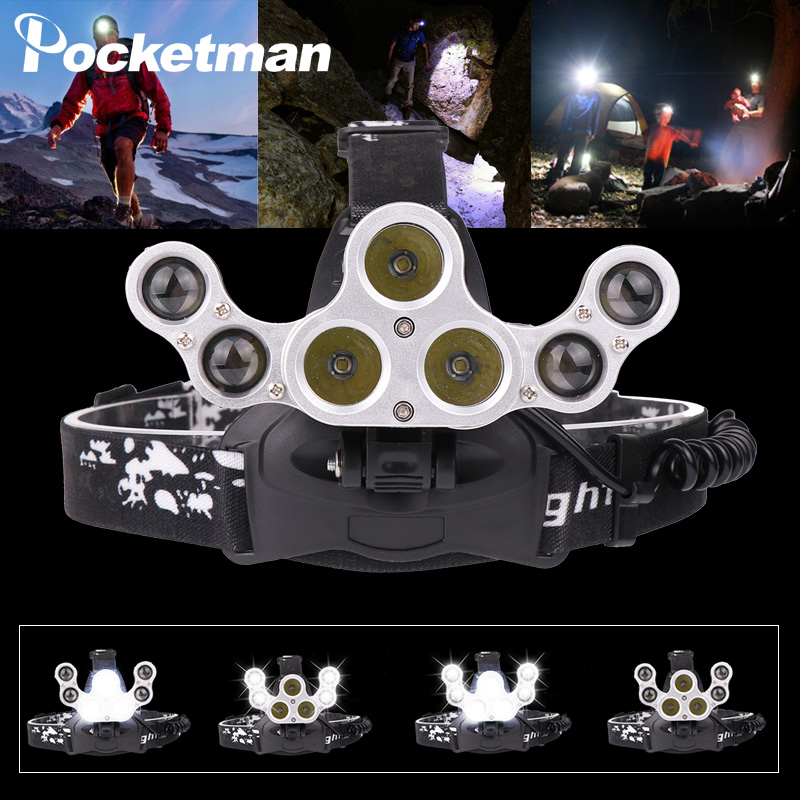 50000 LM headlight T6+XPE LED Headlamp foldable lamp USB rechargeable Hunting Fishing Torch +USB Cable use 3*18650 battery50000 LM headlight T6+XPE LED Headlamp foldable lamp USB rechargeable Hunting Fishing Torch +USB Cable use 3*18650 battery