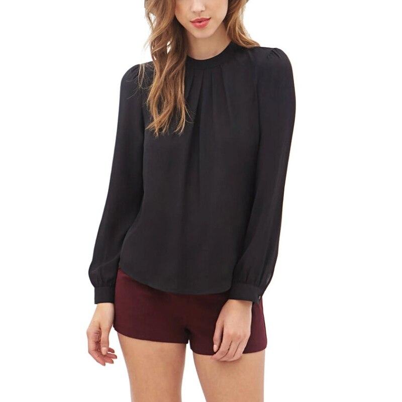 Chiffon shirt Blusas Women Elegant Blouse Shirt Casual Long Sleeve Ladies Work Office