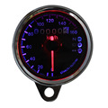 Free Shipping Universal Motorcycle Dual Odometer Speedometer Gauge LED Backlight Signal Light New Styling