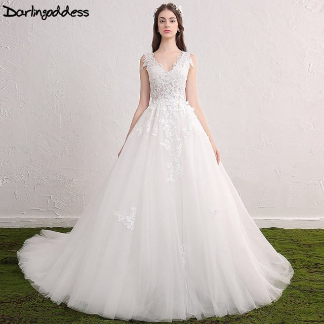 Darlingoddess Robe De Mariee Vintage Wedding Dresses 2017 V Neck ...
