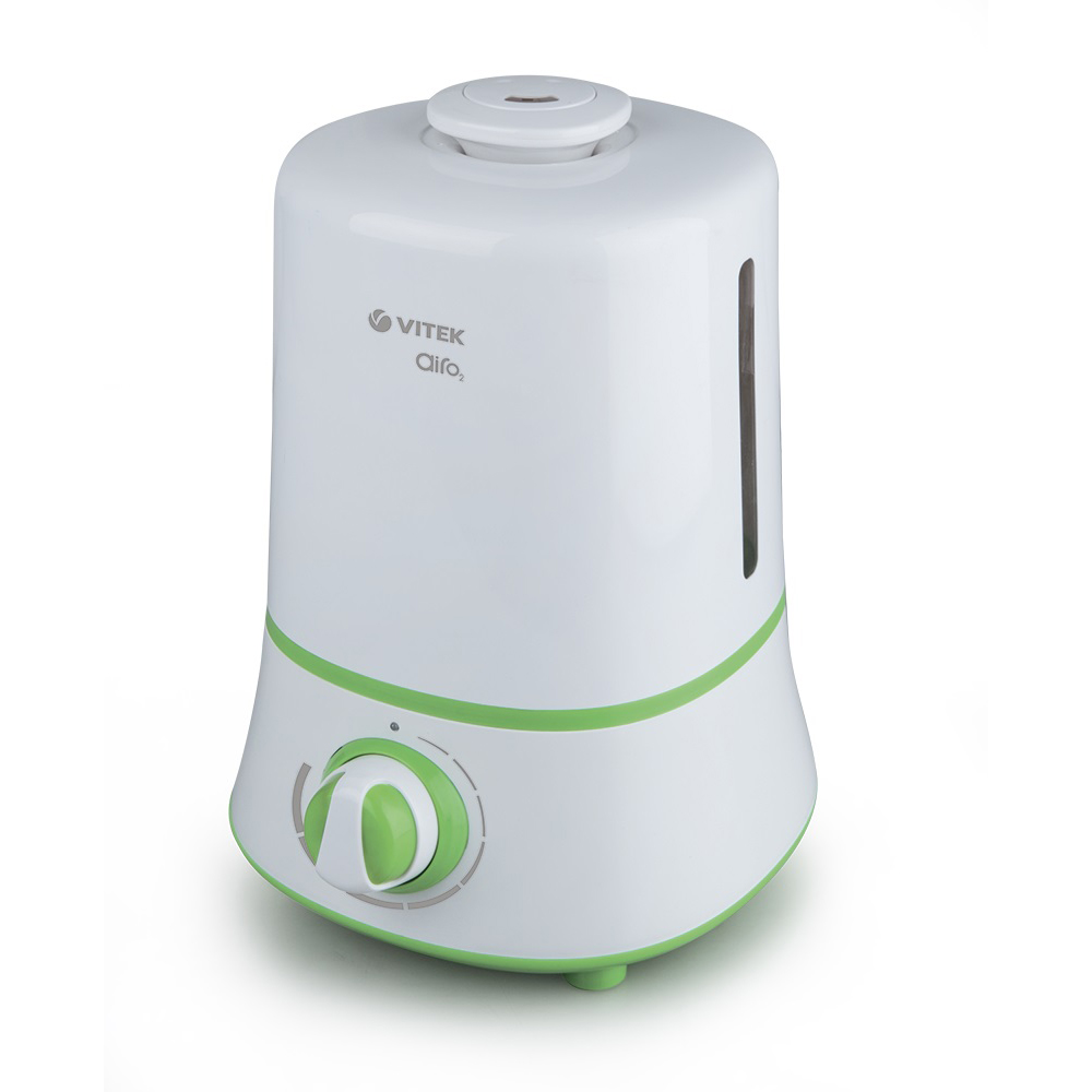 Humidifier Vitek VT-2351 W (Ultrasonic, power 25 W, water tank 3.5 l, capacity 350 ml / h, intensity adjustment)