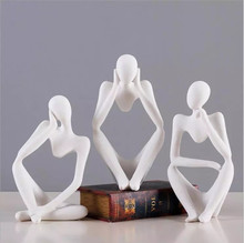 Abstract Thinkers Sculpture Home Decoration Figurecreative Figurine Ornaments Modern Accessories Wedding Gifts