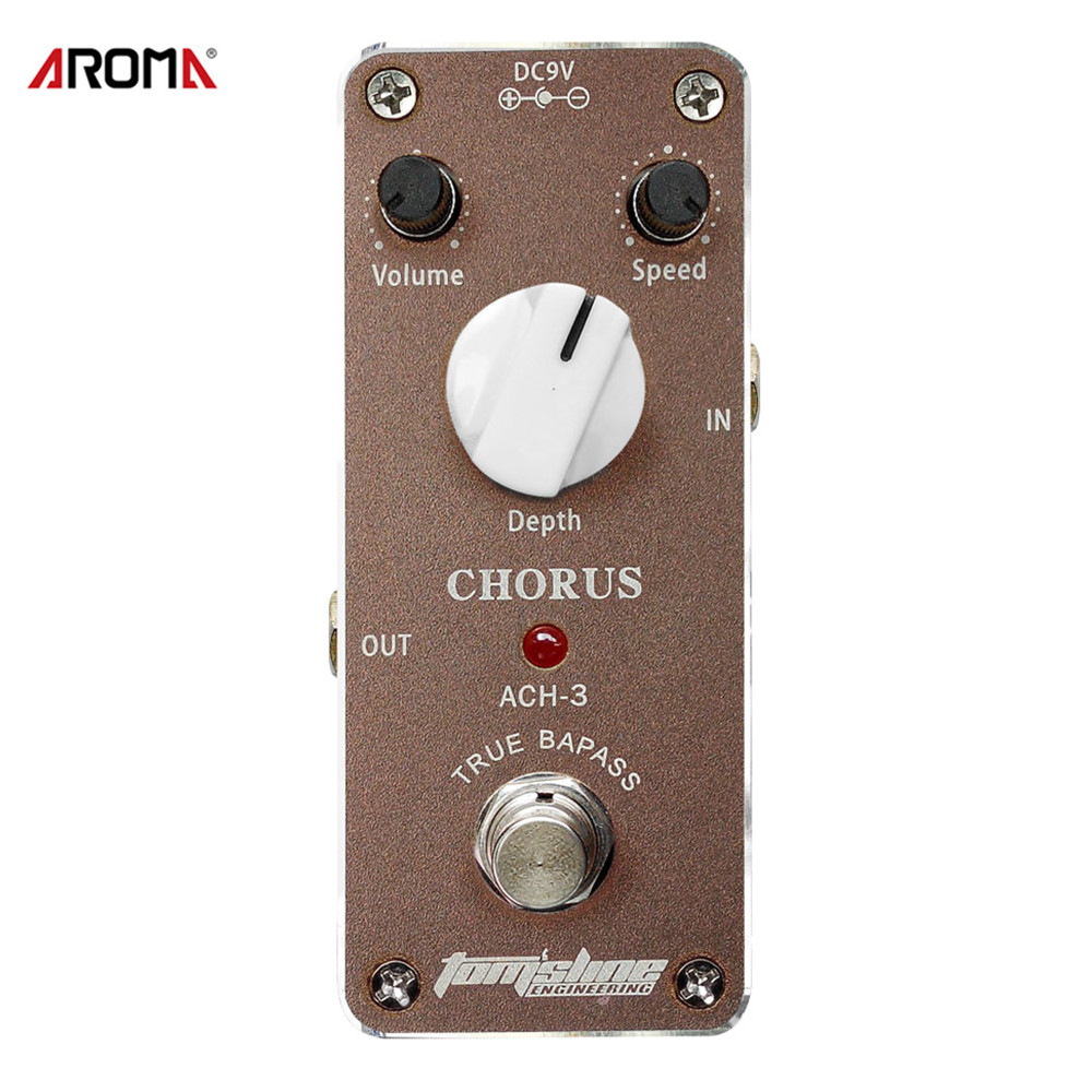 Aroma ACH-3 Guitar Pedal Mini Chorus Guitar Effect Pedal with Fastener Tape Aluminum Alloy Housing Guitar Parts & Accessories aroma tom sline abr 3 mini booster electric guitar effect pedal with aluminum alloy housing true bypass durable guitar parts