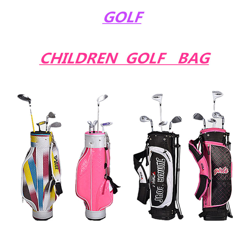 PU Golf bag golf rack bag Ball bag comes with pull rod pulley High hardness plastic base Advanced Leather fabric material golf ball sample display case