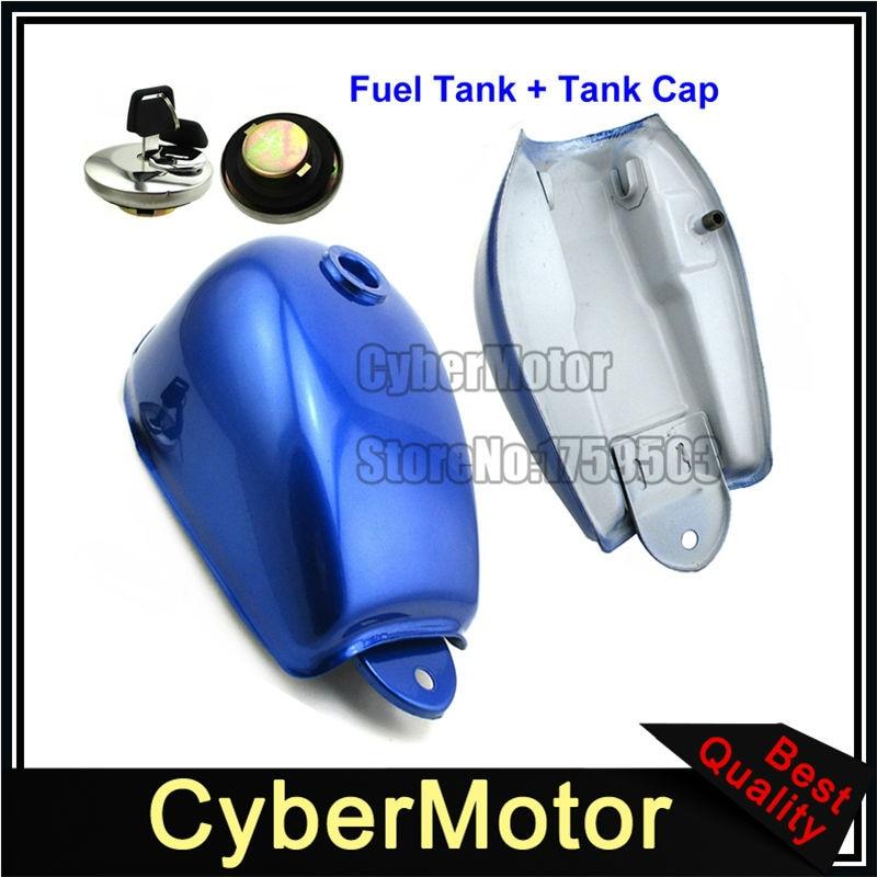 Blue Gas Fuel Tank + Cap Cover With Key For Honda Mini Trail Monkey Motor Bike Z50 Z50A Z50J Z50R Motorcycle цена