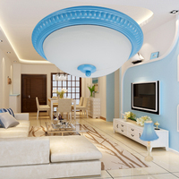 Mediterranean blue LED ceiling lights. Dimmable Idyllic living room bedroom  study room aisle lamps .