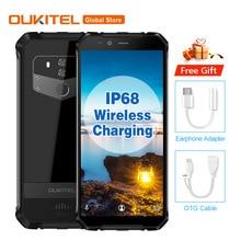OUKITEL WP1 IP68 Su Geçirmez Android 8.1 5.5 ''+ 18:9 Octa Çekirdek 4 GB 64 GB MTK6763 5000 mAh Kablosuz şarj Tri-geçirmez Cep T...
