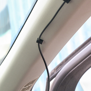 Image 1 - 40 sztuk wyposażenie wnętrz samochód przewód danych trytytka do montażu na przewody klipsy mocujące klamra do samochodu i organizator z klipsem