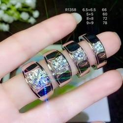 925 silber moissanite Männer der Ring, klassische stil, die welt der beliebte edelsteine, schöne feuer. Der preis ist angemessen. Gr