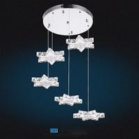 New Creative Shape 45W Pendant Lights Modern Gold Crystal Lamps Dining Room Crystal Light New Design