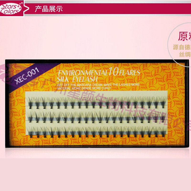 Imported 3 Strips / Pack Жібек қара Fake Eyelashes C Curl - Макияж - фото 3