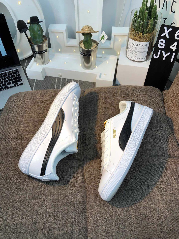 pretty nice abc00 367d1 PUMA X BTS Basket Patent Shoes Bangtanboys Collaborat ...