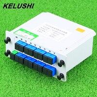 Kelushi divisor de fibra óptica 1x16 caixa cassete cartão inserir plc divisor 16 portas dispositivo ramificação frete grátis