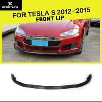 Car Styling Carbon Fiber Auto Racing Front Bumper Lip Splitter Apron for Tesla Model S Sedan 4 Door 2012 2016 JC Type