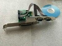 2 Порты и разъёмы RS232 RS-232 serial Порты и разъёмы com и DB25 принтер параллельный Порты и разъёмы LPT для pci-e PCI Express Card адаптер конвертер ЧМ ch382l