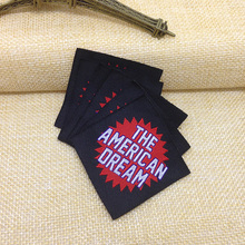 Free shipping Customized Garment Woven label, satin woven brand label for clothing
