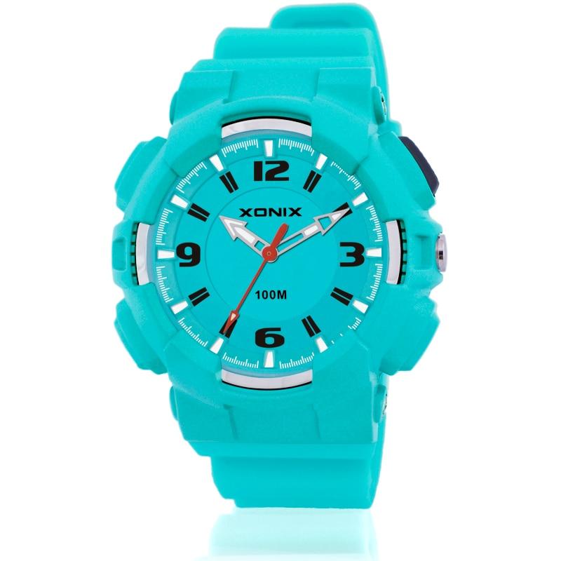 Women Sports Watch Quartz Analog LED Light Waterproof 100 Girl Sports Wristwatch Outdoor Casual Swim Watch