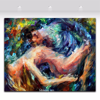 Nude Handpainted Nude Man And Women Lover Oil Painting On Canvas Wall Art Abstract Painting Pictures For Living Room Home Decor