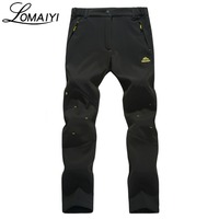LOMAIYI 2017 Warm Fleece Women S Pants Winter Thick Softshell Trousers For Women Snow Windproof Stretch