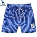 ERRANCE brand 2016 high quality men's casual beach shorts, swimwear men shorts, striped shorts swimwear shorts
