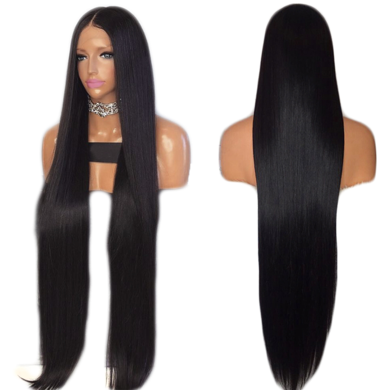Charisma 30 Inches Lace Front Wig Natural Straight Glueless Synthetic Wigs High Temperature Heat Resistant Fiber