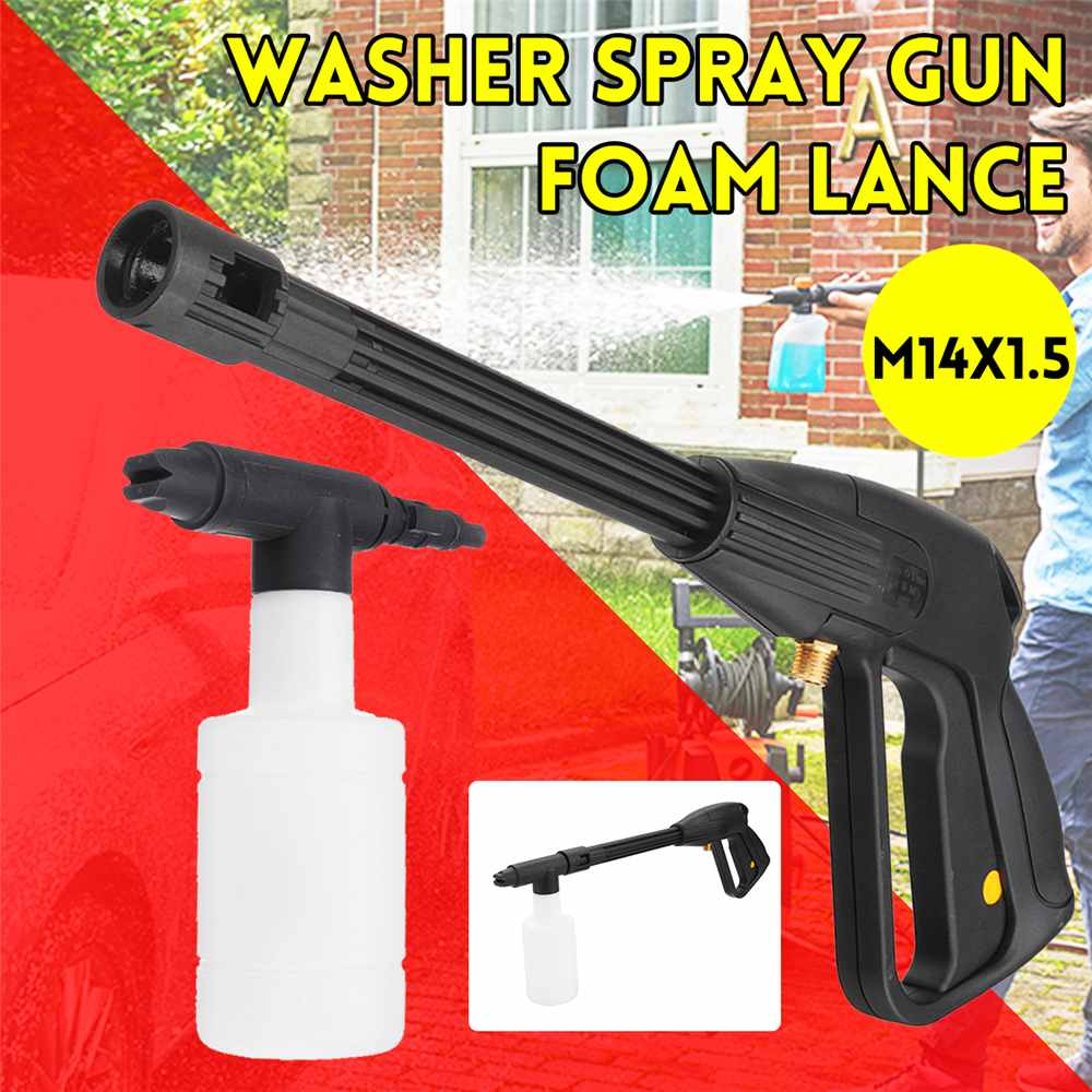 Newest High Pressure Car Washer Spray-Gun Foam Lance M14x1.5 Sprayer Bottle Water-Gun Power Jet Auto Car Washing Cleaning Tool