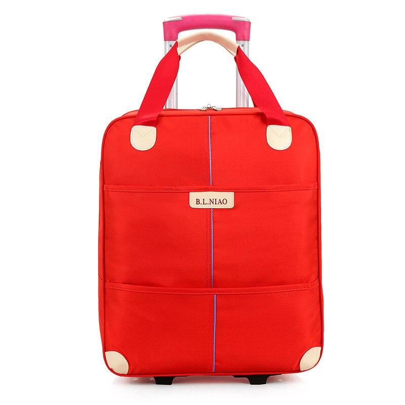 Roue bagage Trolley sac femmes voyage sacs chariot à main unisexe sac grande capacité voyage sacs valise à roulettes