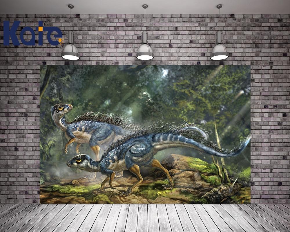 Kate Children Tree Photography Backdrops Forest Cartoon Dinosaur Backdrop For Children Photo Studio Background J02622