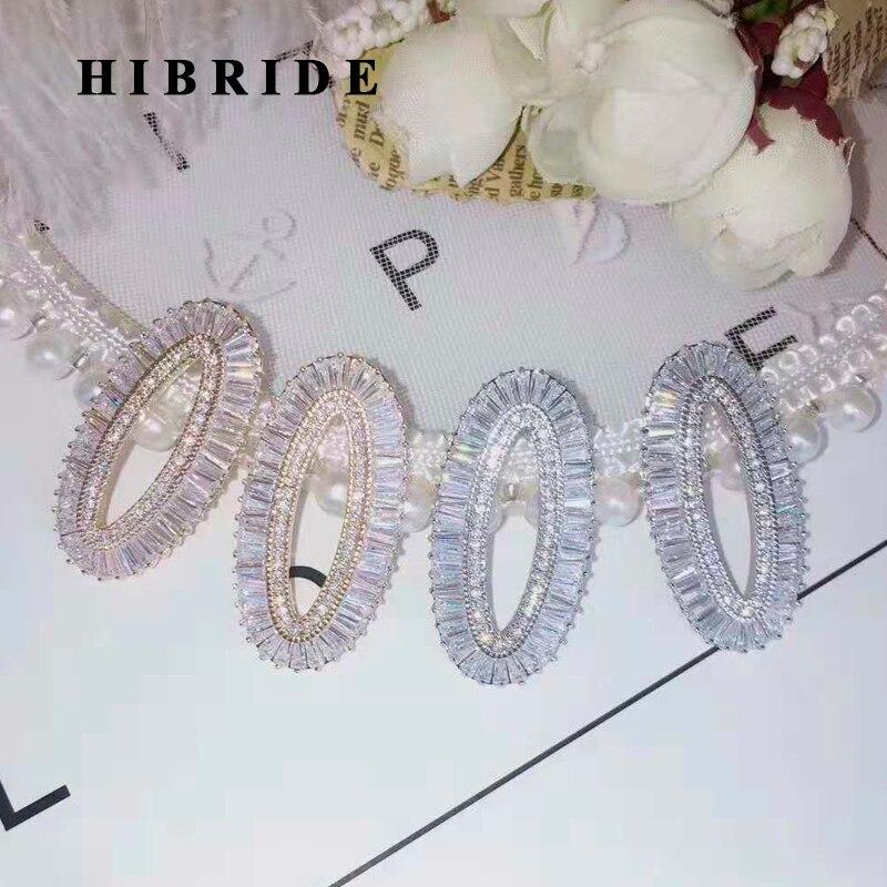 HIBRIDE Brillant Lettre Conception Zircon Cubique Femmes Fille Beauté Boucles D'oreilles Accessoires Brincos Bijoux Parti Cadeaux E-937