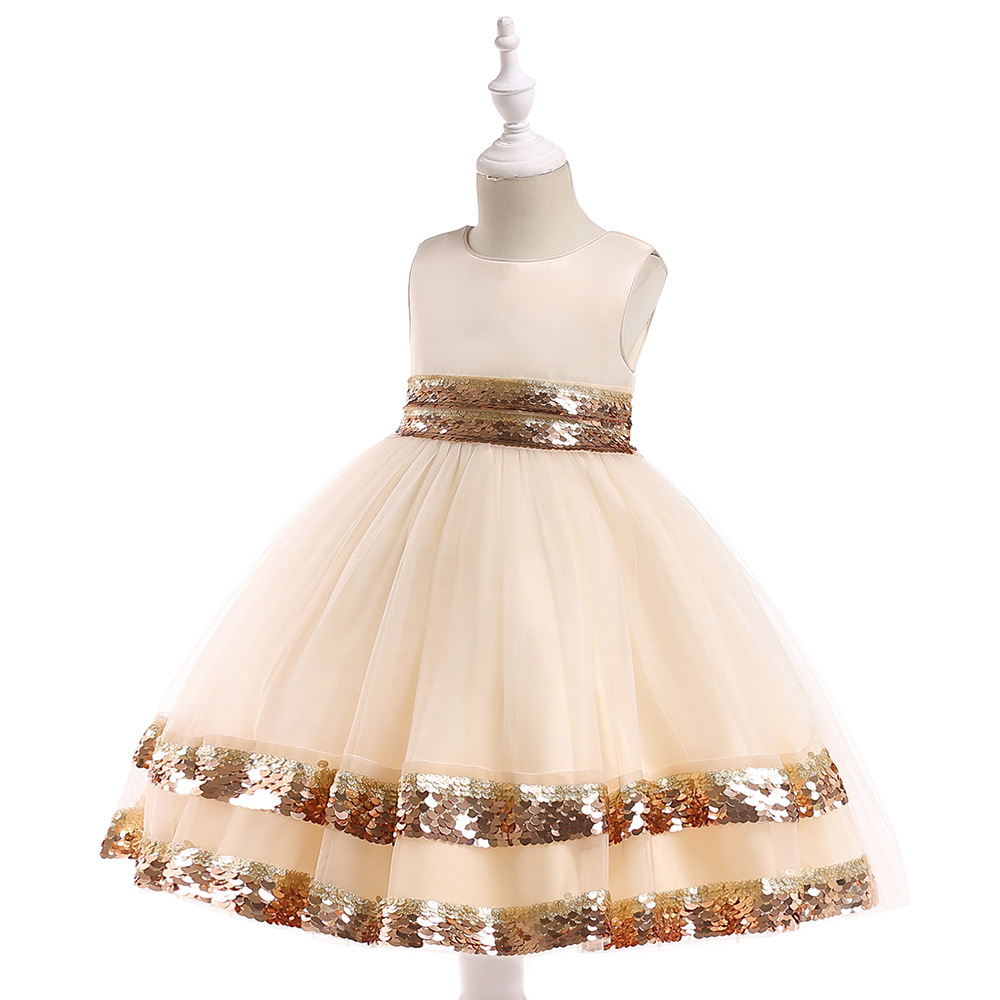 Free shipping 2018 exclusive new children's dresses girls' princess sequins fluffy flower girl dress party costume JQ-2010