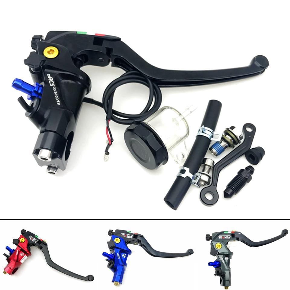 CNC 19 RCS moto frein maître-cylindre câble embrayage Radial frein pompe 22mm universel pour Honda Yamaha Kawasaki Suzuki