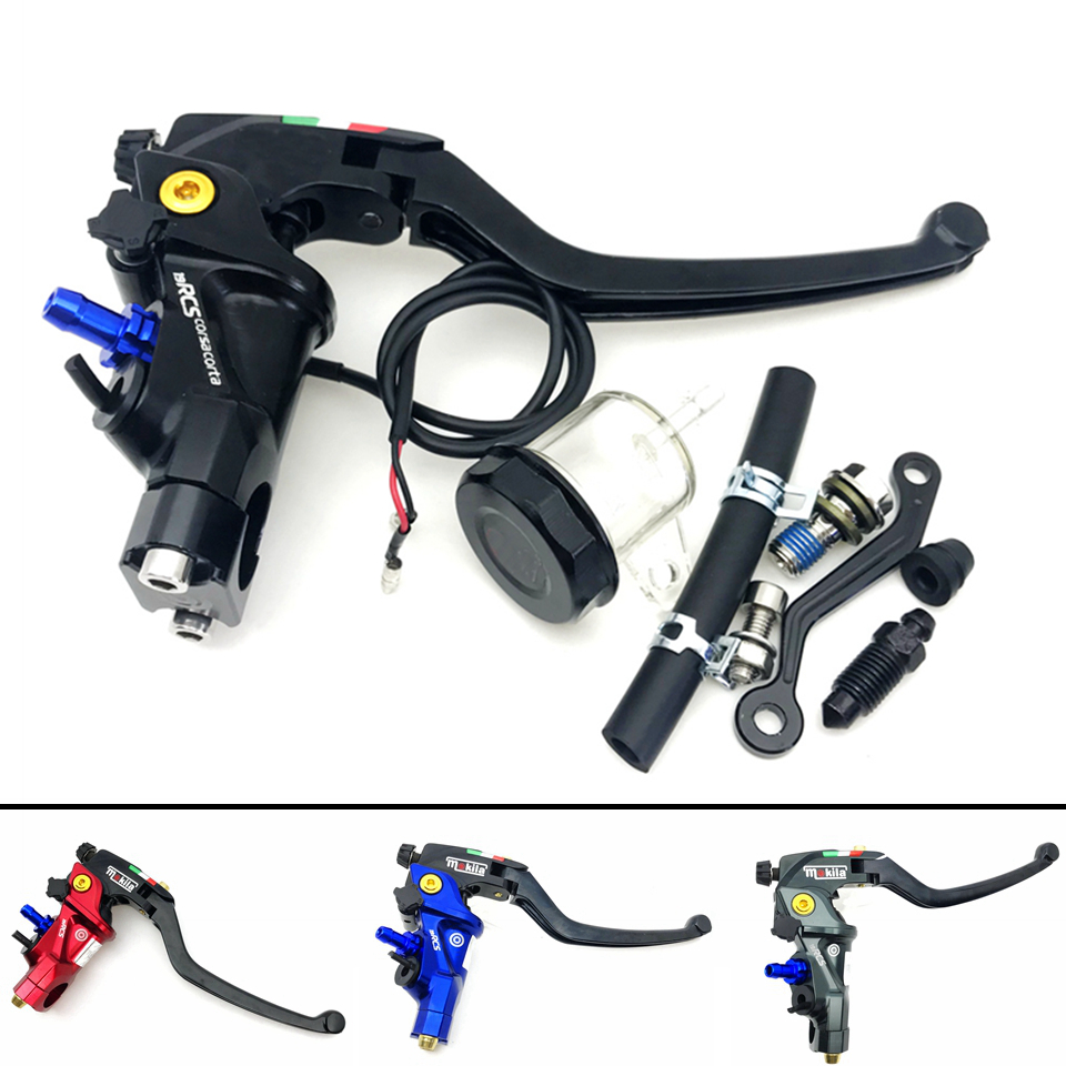 CNC 19 RCS moto frein maître-cylindre câble embrayage Radial pompe de frein 22mm universel pour Honda Yamaha Kawasaki Suzuki