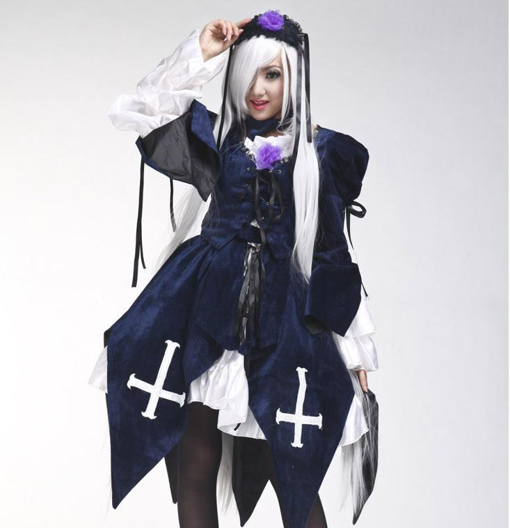 Anime Adults Peach Pi t Rozen Maiden font b Cosplay b font Clothes Halloween Costume for