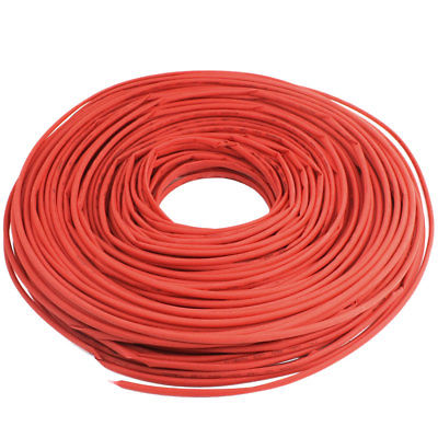 600V 125C 100m Shrink Ratio 1/2 Red Insulated Heating Shrinkable Tube 5mm Dia. retardant heat shrink tubing shrinkable tube diameter cables 120 roll sale