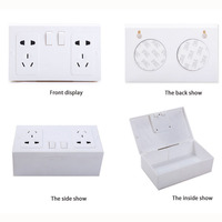 Wall Plug Socket Safes Anti Theft Fake Socket Hidden Secret Safe Box Money Jewelry Valuables Storage