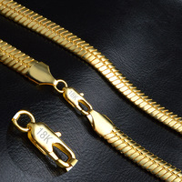18K Real Gold Filled Necklace With 18K Stamp Men Jewelry Wholesale New Trendy 9 MM Wide
