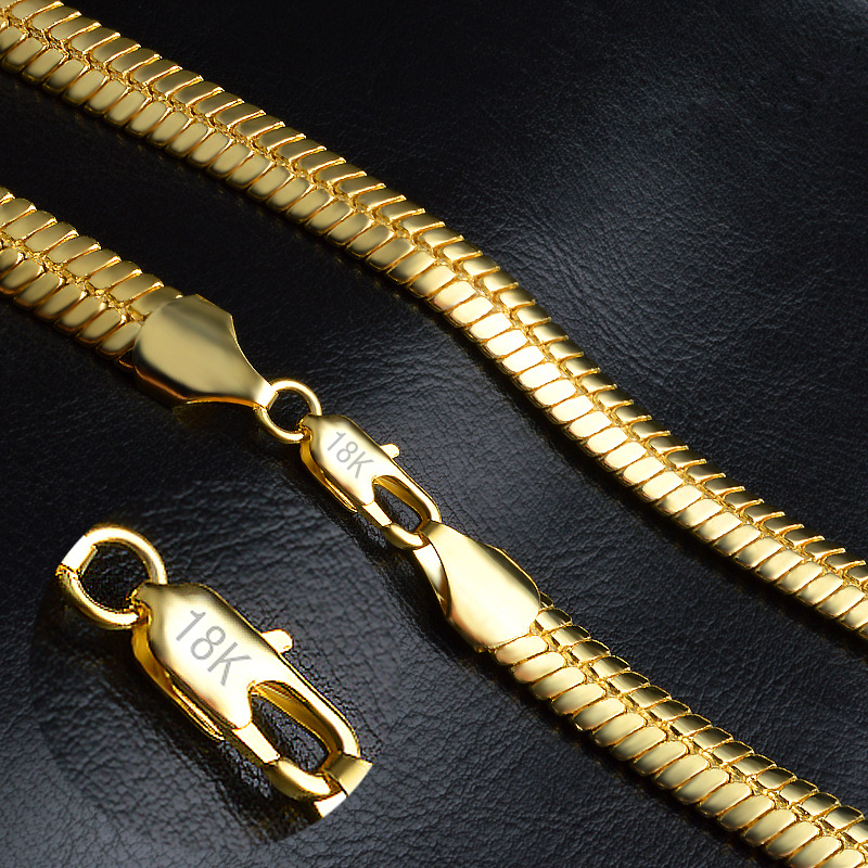 Gold Color Necklace Men Jewelry Wholesale New Trendy 9 MM Wide Figaro  Necklace Chain Gold Jewelry NX192 c2c701ade8
