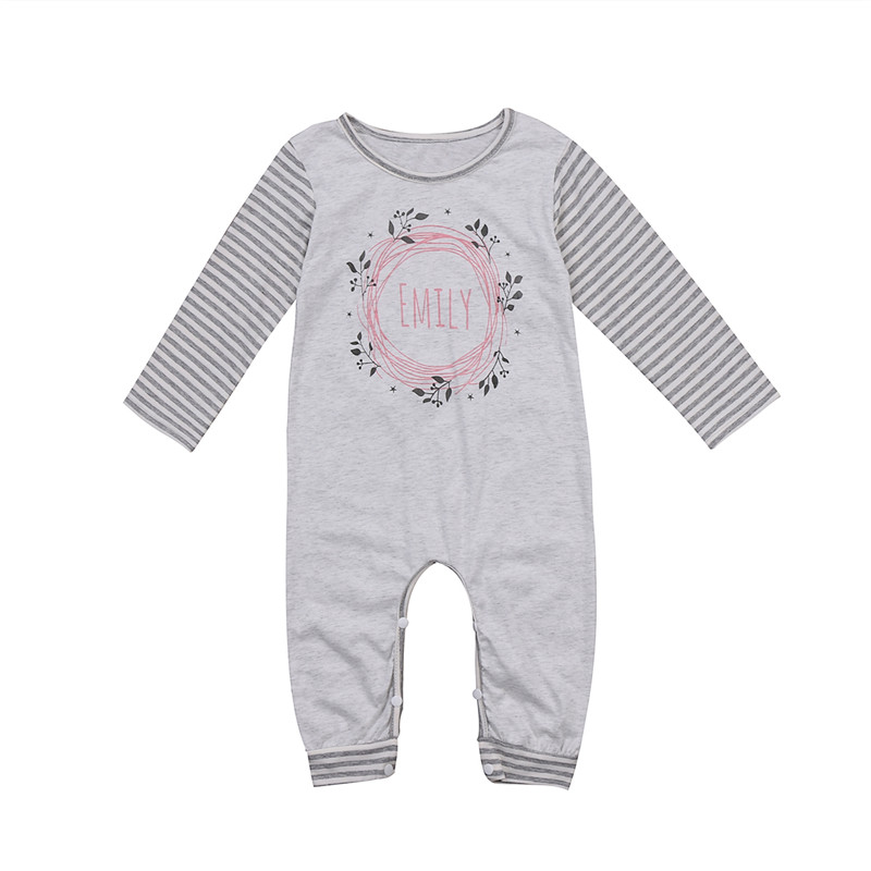 539ecfcce851 floral striped baby romper long sleeves autumn baby cloth newborn ...