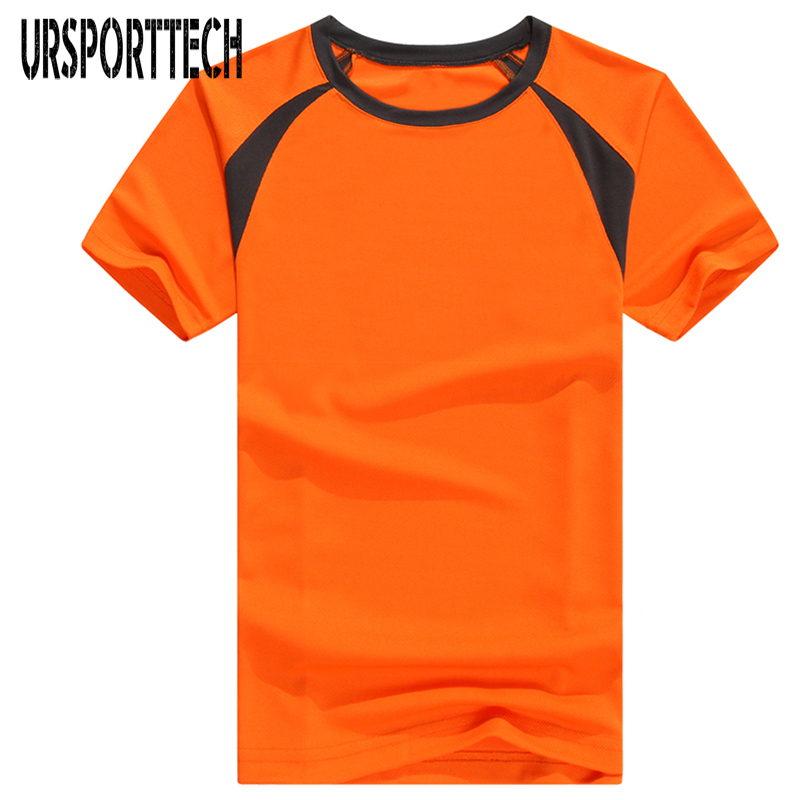 2017 New Summer T-Shirts Mens 100% Polyester Shoulder Tee Shirt Quick Dry T-Shirt Casual Short Sleeve Plus Size