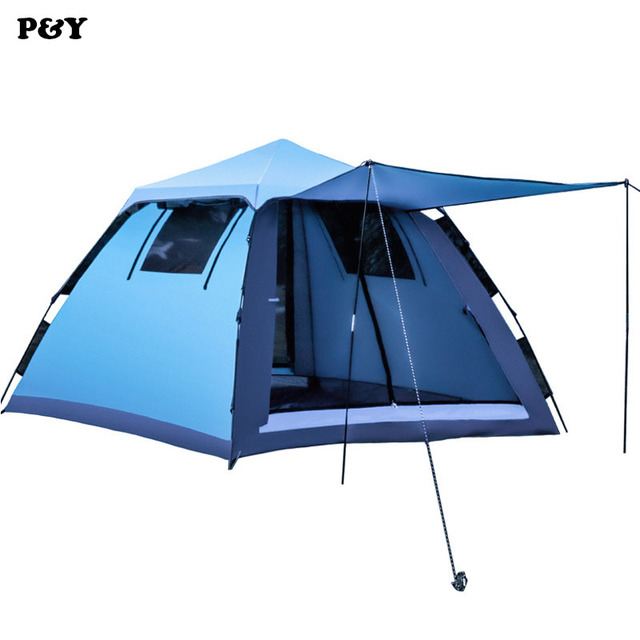 New Outdoor C&ing Tent family 3-4 People 190T Silver Plastic Waterproof UV Tents tourism  sc 1 st  AliExpress.com & New Outdoor Camping Tent family 3 4 People 190T Silver Plastic ...