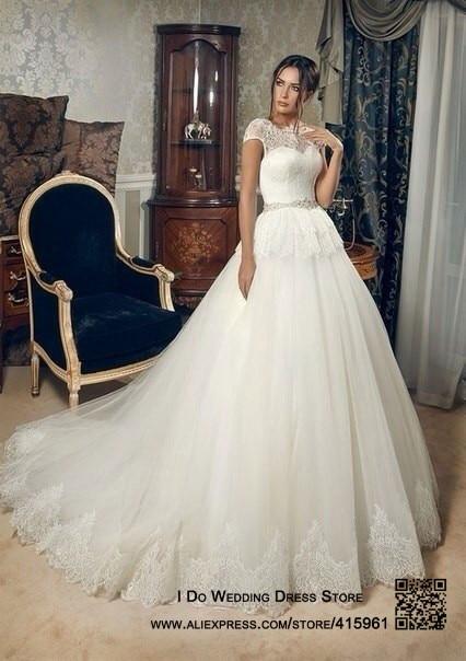 Aliexpress.com : Buy 2016 Romantic Real Sample Lace Bridal Dresses ...