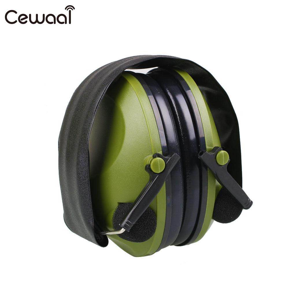 Cewaal Green Outdoor Protection Headphone Tactical Anti-Noise Impact Electronic Earmuff  ...