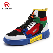 ALDOMOUR Skateboarding Shoes Man old skool Borderlands High Classic Sneaker  Air Permeable New Arrival Sport Skating a983a084fe4d