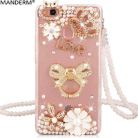 Huawei P8 Lite 2017 Case Luxury Rhinestone Stand Holder Back Cover Case For Huawei P8 Lite