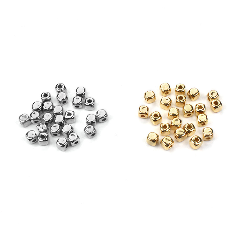 200pcs/lot CCB Gold And Silver Color Square Shaped Spacers Loose Beads Accessories Fit DIY Bracelet Necklace200pcs/lot CCB Gold And Silver Color Square Shaped Spacers Loose Beads Accessories Fit DIY Bracelet Necklace