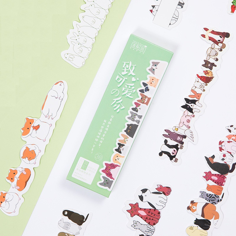 30 Pcs Cute Animal Bookmarks For Books Marker Hand In Hand Post Card Stationery Office School Supplies Marcador De Livro A6127