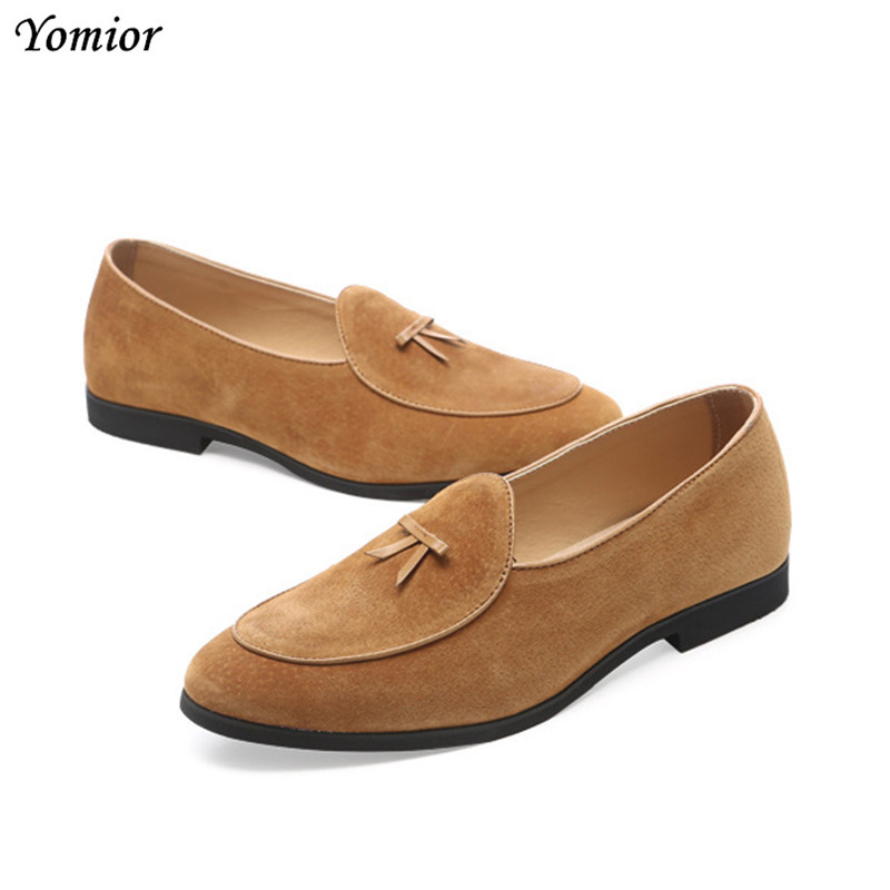 2018 Handmade Spring Summer Men Formal Wedding Shoes Luxury Men Business Office Dress Shoes Men Oxfords Pointy Cow   Leather   Shoes