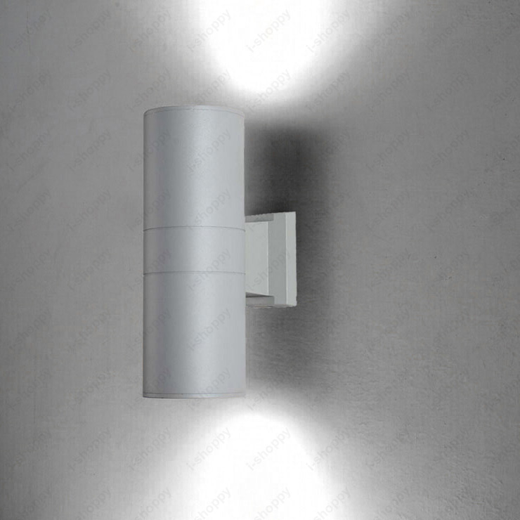designer fashion 7d939 08c2e US $40.99 |6W/8W/10W/14W/24W LED Outdoor Wall Sconces Lamp Up/Down Patio  Garage Door Light Waterproof Gray Finish-in Floodlights from Lights & ...